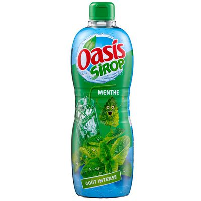 Sirop à la menthe OASIS SIROP, bouteille de 1.3L