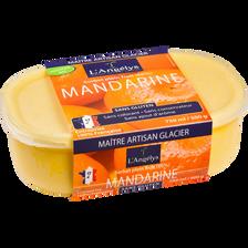 Sorbet plein fruit mandarine L'ANGELYS, 500g