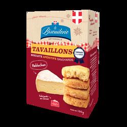 Biscuits apéritif au Reblochon LA BISCUITERIE ARTISANALE, boite de 100g