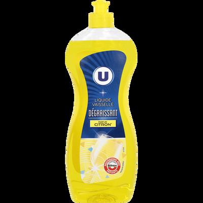 Liquide vaisselle parfum citron U, flacon de 750ml
