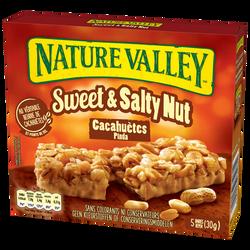 Barre céréales sweet/salty nut cacahuètes NATURE VALLEY 5x30g