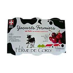 Yaourts fermiers aux fruits LA FERME DE CORLY, 6x125g