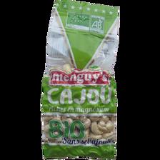 Noix de cajou grillées salées Bio MENGUY'S, 200g