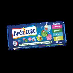 Fromage fondu apéritif APERICUBE Cocktail 48 cubes, 250g
