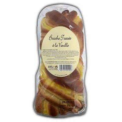 Brioche Tressée à la crème pâtissière saveur Vanille 400G