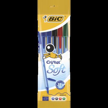 Bic Stylo Bille Bic Assortis: Bleu X2, Noir X1, Rouge X1, Vert X1
