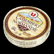 Camembert au lait cru fabriqué en Normandie 22% de MG, U, 250g