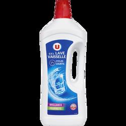 Gel liquide lave-vaisselle U flacon 1,5L