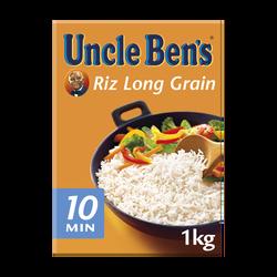 Riz long grain vrac cuisson rapide 10 minutes UNCLE BEN'S, 1kg