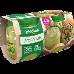 Pot pour bébé artichauts BLEDINA, dès 4/6 mois, 2x130g