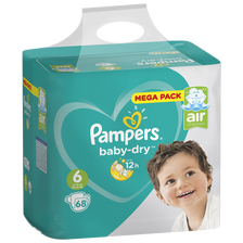 Pampers Couches Baby Dry Mega T6 , X68
