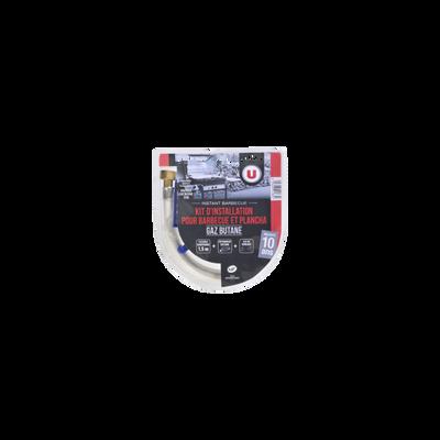 Kit flexible U, manugaz butane propane, avec détendeur butane, emboutsvisses et clé plastique multifonction