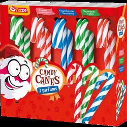 Candy canes sucre d'orge aux colorants naturels FIZZY, boîte de 140g