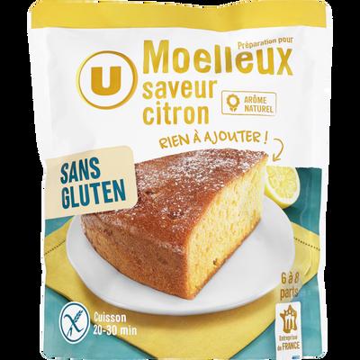 Moelleux citron U SANS GLUTEN, doypack de 500g