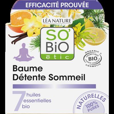 Baume détente sommeil aux 7 huiles essentielles Bio LEA NATURE, pot de 40ml