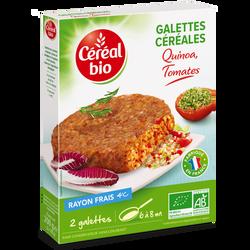 Galette quinoa tomates frais CEREAL BIO FRAIS, 200g