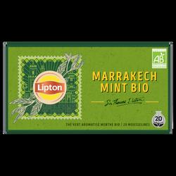 Thé vert aromatisé menthe bio LIPTON, 34g