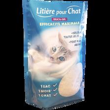 Litière pour chat gel de silice, sac de 5l