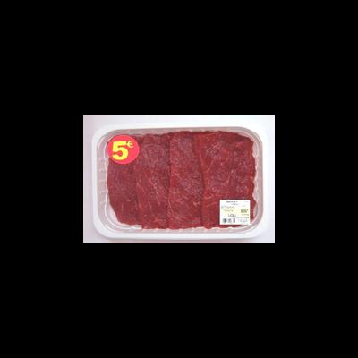 Viande bovine - Steak *, à griller, France, 4 pièces, Barquette, 400g