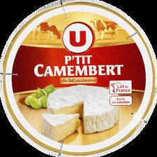 P'tit Camembert au lait pasteurisé U, 20%MG, 145g