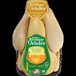 Poulet label jaune bocage vendée s/film MAITRE COQ 1,5kg
