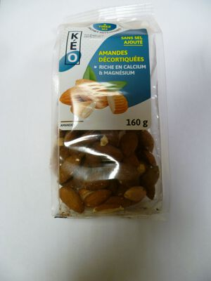 AMANDE DECORTIQUEE SANS SEL, KEO FOOD, Sachet, 160g