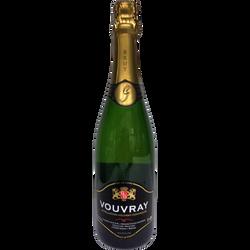 Vouvray AOP brut, Domaine Sylvain Gaudron, Méthode Traditionnelle, bouteille de 75cl
