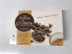 Glace rhum-raisin, Les glaces de l'Ardèche 450g
