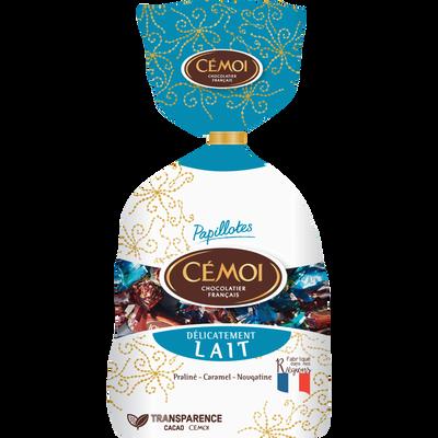 Papillotes delicatement lait CEMOI, sachet de 380g