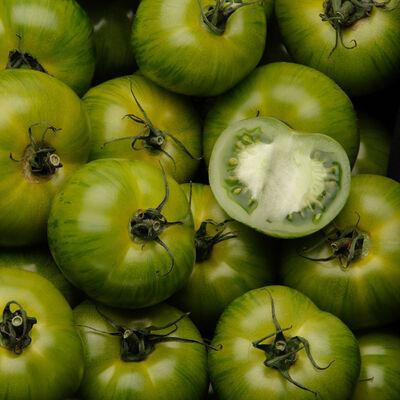 Tomate ronde, segment Les Zébrées, Green Zebra, SAVEURS DU BOUT DU MONDE, catégorie 2, France