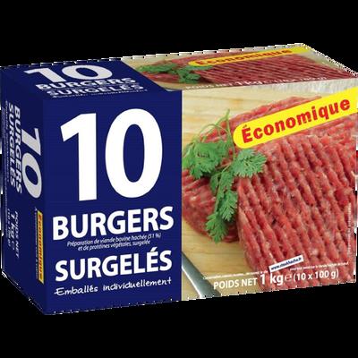 Steak haché burger x10 1kg