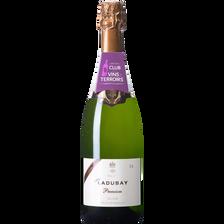 Vin Saumur brut Mademoiselle Ladubay premium, bouteille de 75cl