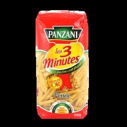 Pâtes penne rigate cuisson rapide PANZANI, 500g