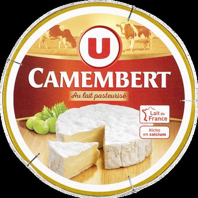 Fromage pasteurisé camenbert U, 21% de MG, boîte de 250g
