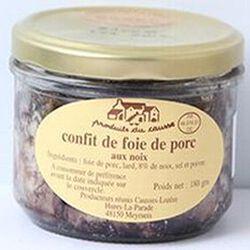 Confit de foie de porc aux noix, Produits du causse, 180g