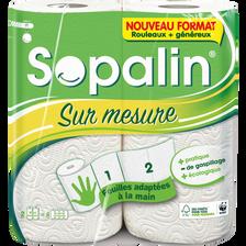 Essuie-tout blanc sur mesure SOPALIN, 2 rouleaux