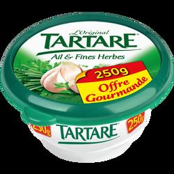 Fromage pasteurisé ail & fines herbes 34,5% de matière grasse TARTARE,pot de 250g