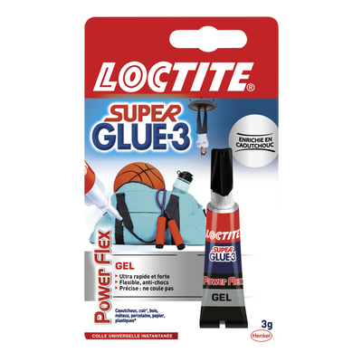 Colle en gel Super Glue 3 Power Flex LOCTITE, tube de 3g