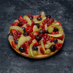 Tarte fruits assortis, 6 parts, 890g