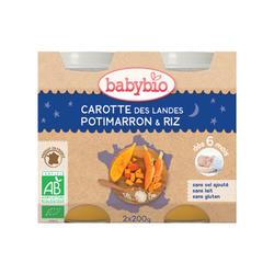 Pot Bonne nuit Carotte Potimarron riz BABYBIO dès 6 mois 2x200g