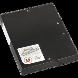 Boîte de classement U, dos 40mm, noire