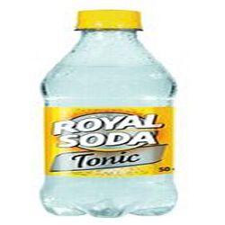 Boisson gazeuse parfum tonic,ROYAL SODA, bouteille de 50cl