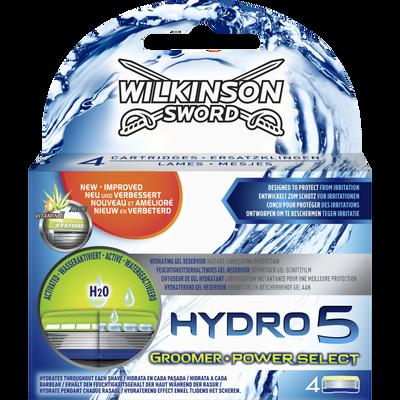 Lames de rasoir hydro 5 groomer power select WILKINSON, x4