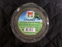 Fromage frais lait cru 3 poivres 19% FERME DU GENNETAY 180g