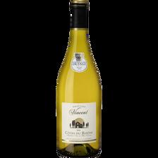 Vin blanc Côtes du Rhône AOC ORATOIRE SAINT VINCENT, bouteille de 75cl