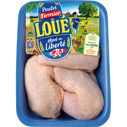 Cuisse de poulet blanc, LOUE, 900g