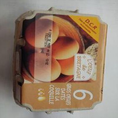 6 œufs datés DCR l'œuf BZH