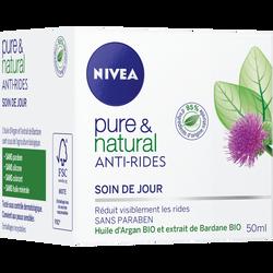 Soin de jour anti-rides Pure & Natural NIVEA VISAGE, 50ml