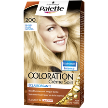 Coloration permanente PALETTE, blond clair naturel n°200