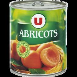 Oreillons d'abricots au sirop léger U, boîte de 4/4, 475g
